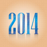 Vector blue number 2014. Vector background for your business stock illustration