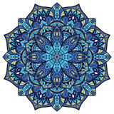 Vector, blue ornate mandala Stock Photo