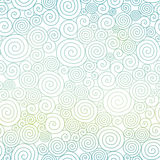 Vector Blue Pastel Gradient Abstract Swirls Texture Seamless Pattern Background. Royalty Free Stock Photos