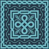 Vector blue pattern of interlacing lines Stock Photos