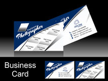 Vector Blue Photographer Business Card Royalty Free Stock Image