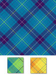 Vector blue Plaid Background Stock Photography