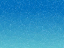 Vector blue presentation and web background with triangles. Royalty Free Stock Photos