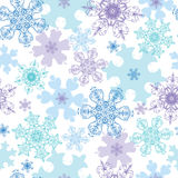 Vector Blue Purple Detailed Snowflakes Holiday Stock Images