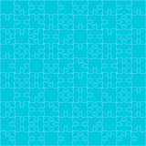 Vector Blue Puzzles Pieces Square GigSaw - 100. Royalty Free Stock Photos