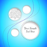 Vector blue quilted banner with curled corner Stock Photography
