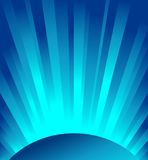 Vector blue rays of light Stock Image