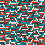 Vector Blue Red Triangle Random Stripes Geometric Pattern Stock Photography