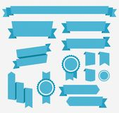 Vector Blue retro ribbons set. Elements isolated Royalty Free Stock Image