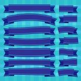Vector Blue Ribbons. Cartoon cute,eps10 Stock Image