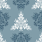 Vector blue royal spring seamless background Royalty Free Stock Photo