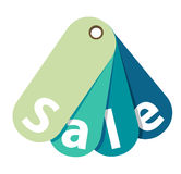Vector Blue Sale Tag Isolated Royalty Free Stock Photos