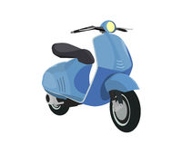 Vector blue scooter Royalty Free Stock Photos