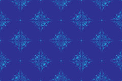 Vector blue seamless texture. With geometrical figures Royalty Free Stock Photography