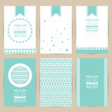 Vector blue set of Vintage pattern background banner Stock Images