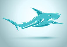 Vector blue shark. Royalty Free Stock Photography