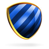 Vector blue shield template item. EPS 8 Royalty Free Stock Photos