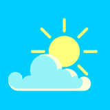 Vector blue sky and the sun day icon Royalty Free Stock Photos