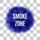Vector Blue Smoke for Use on Light Background Royalty Free Stock Image
