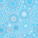 Vector blue snow pattern Royalty Free Stock Photography