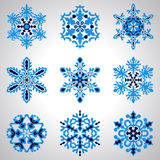 Vector Blue Snowflakes Stock Image