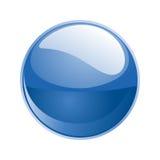 Vector blue sphere. 3d  blue sphere on white Royalty Free Stock Photo
