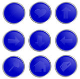 Vector blue spheric web buttons Royalty Free Stock Photography