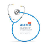 Vector blue Stethoscope with place for text Royalty Free Stock Photos