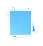 Vector blue sticker Royalty Free Stock Photo