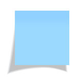 Vector blue sticker Royalty Free Stock Image