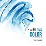 Vector blue swirl line abstract background. Vector Stock Photography