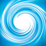 Vector blue swirling backdrop with space for text Stock Photo