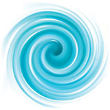 Vector blue swirling backdrop stock illustration