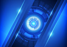 Vector blue technology abstract background, illustration Stock Images