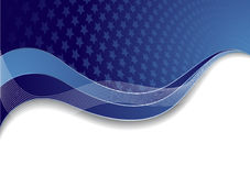 Vector blue template with star Royalty Free Stock Photography