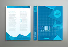 Vector blue template Stock Images