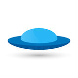 Vector blue UFO or a flying spaceship for newcomers,  decoration and design. Stock Photos