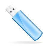 Vector blue USB Flash drive Royalty Free Stock Photo