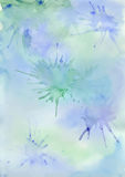 Vector blue watercolor background Stock Photo