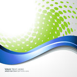 Vector blue wave. On greyish background Vector Illustration