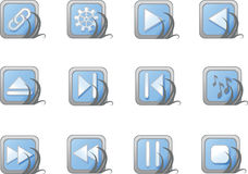 Vector blue website and internet icons. Vector illustration in AI-EPS8 format Stock Photo