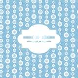 Vector blue and white snowflakes stripes frame Stock Photos
