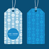 Vector blue and white snowflakes stripes vertical Stock Photos