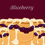 Vector blueberry muffin with jam Royalty Free Stock Photos
