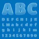 Vector BluePrint Alphabet, Font. Part 1 Stock Photos