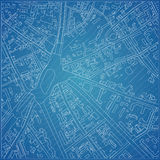 Vector blueprint with city topography.  Stock Image