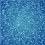 Vector blueprint with city topography. Vector illustration Royalty Free Stock Image