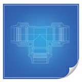 Vector blueprint engineering. Project illustration Royalty Free Stock Photography