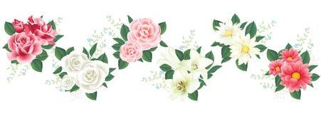 Vector Blume mit Lilie, stieg für Design stock abbildung