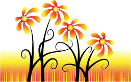 Vector Blumen Stockfotos